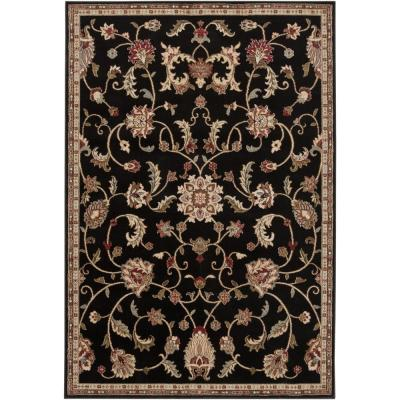 Sabin Black 4 ft. x 5 ft. Indoor Area Rug