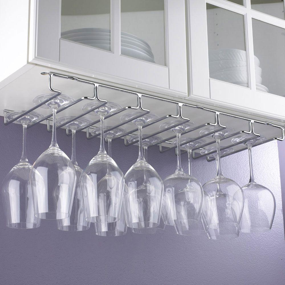 Chrome Hanging Wine Gl Rack
