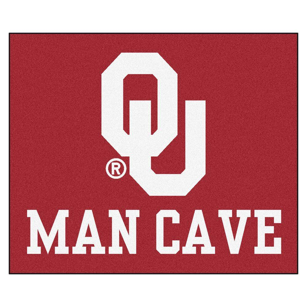 FANMATS University Of Oklahoma Red Man Cave 5 Ft X 6