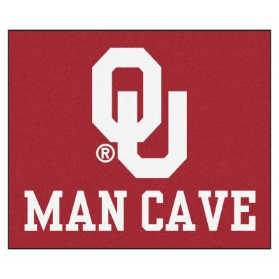 University of Oklahoma Red Man Cave 5 ft. x 6 ft. Area Rug