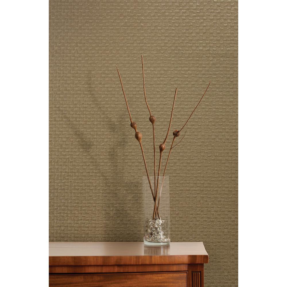 Reka Neutral Paper Weave Wallpaper Sample