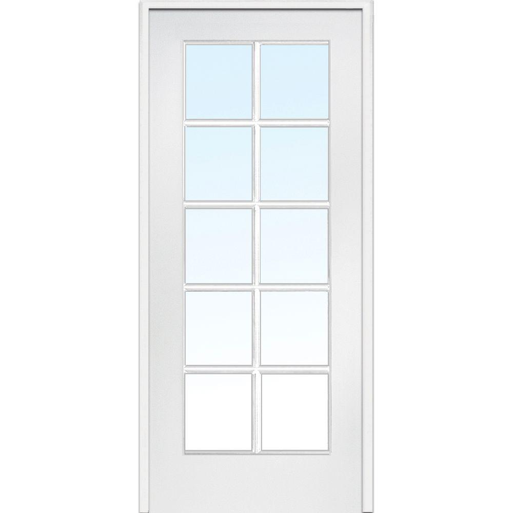 Mmi Door 30 In X 80 Right Handed Primed Composite Clear Gl 10