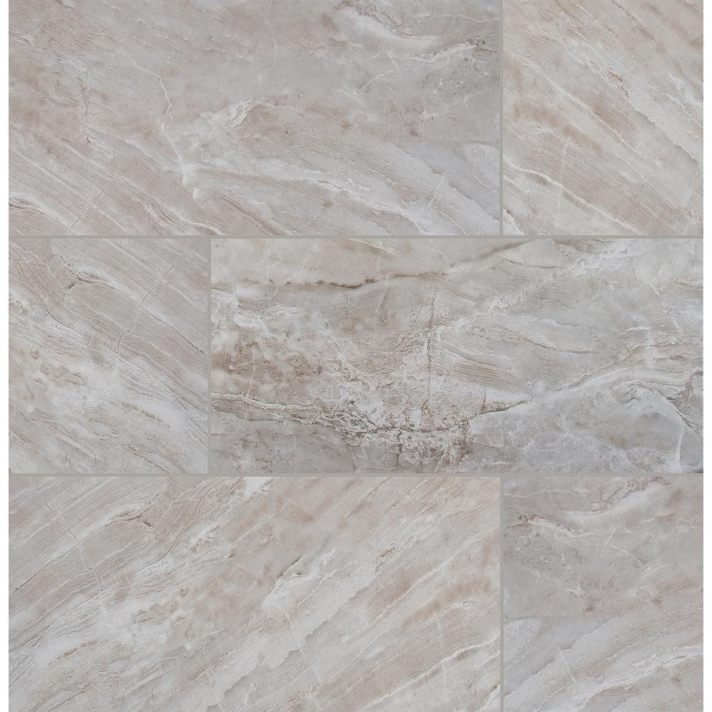 MSI Bergamo Gris 12 in. x 24 in. Matte Ceramic Floor and Wall Tile (2 sq. ft.)