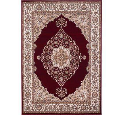 Bazaar Emy Hd2587 Red Ivory 5 Ft X 7 Area Rug