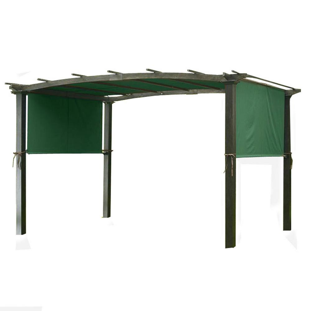 Garden Winds Universal Replacement Canopy Top Cover in Green Spruce for Metal Pergola Frame
