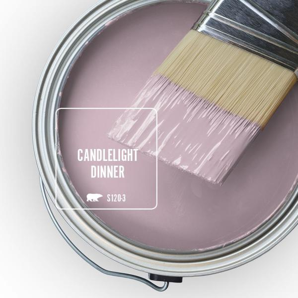 Reviews For Behr Premium Plus 1 Gal S120 3 Candlelight Dinner Semi Gloss Enamel Low Odor Interior Paint And Primer In One 340001 The Home Depot