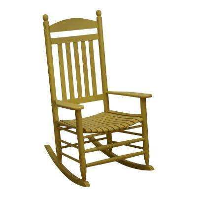 Bradley Slat Cornbread Patio Rocking Chair