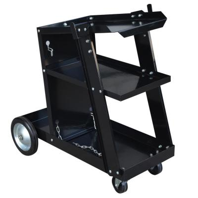 Deluxe MIG and Flux Welding Cart with 3-Tiers and Swivel Casters