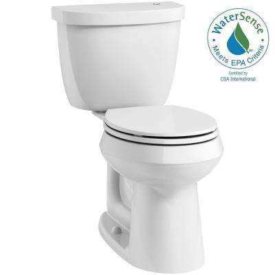 Cimarron Touchless Comfort Height Complete Solution 2-Piece 1.28 GPF Round-Front Toilet with AquaPiston in White