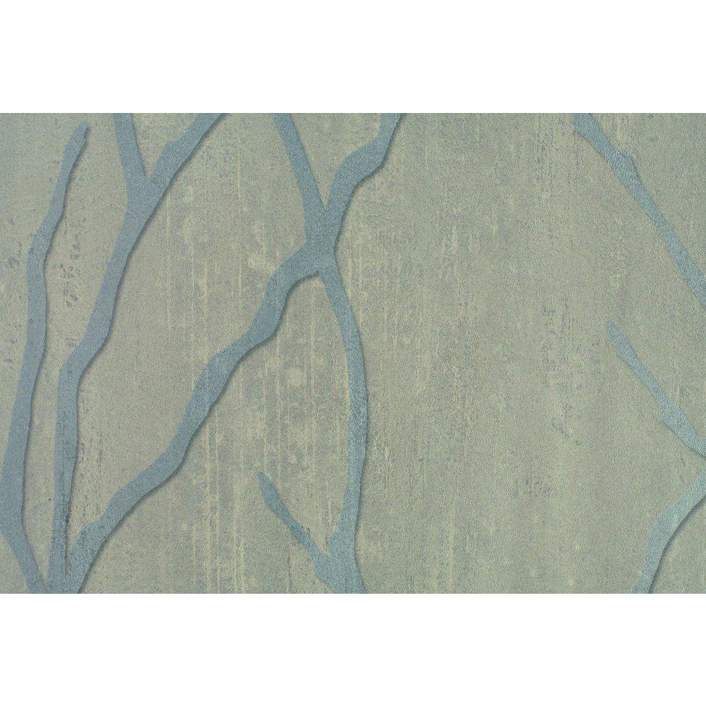 Silver Willow Branch Print Wallpaper