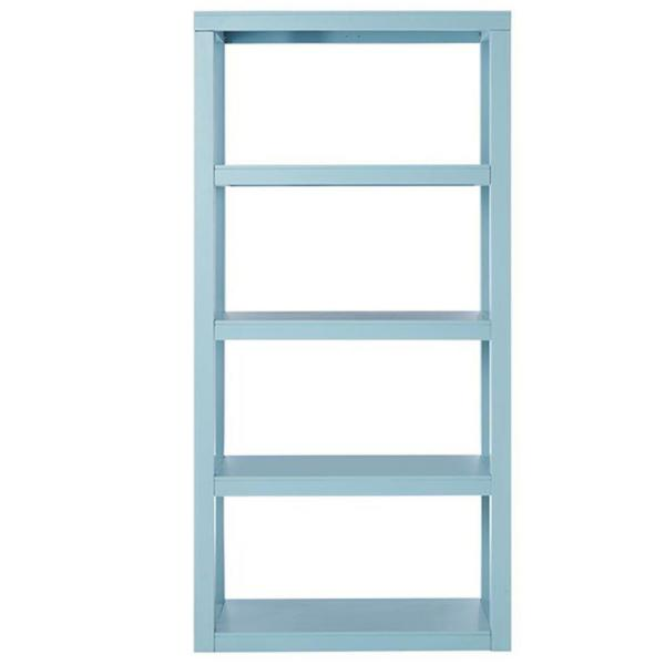 undefined Parsons 62 in. H x 30 in. W Bookcase in Blue