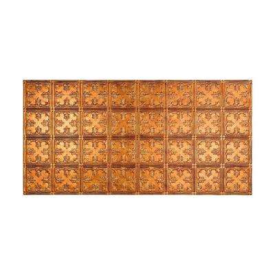 Traditional 10 - 2 ft. x 4 ft. Glue-up Ceiling Tile in Muted Gold