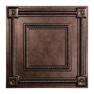 Coffer - 2 ft. x 2 ft. Lay-in Ceiling Tile in Smoked Pewter