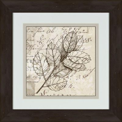 """17 in. x 17 in. """"Sophisticated Botany B"""" Framed Wall Art"""
