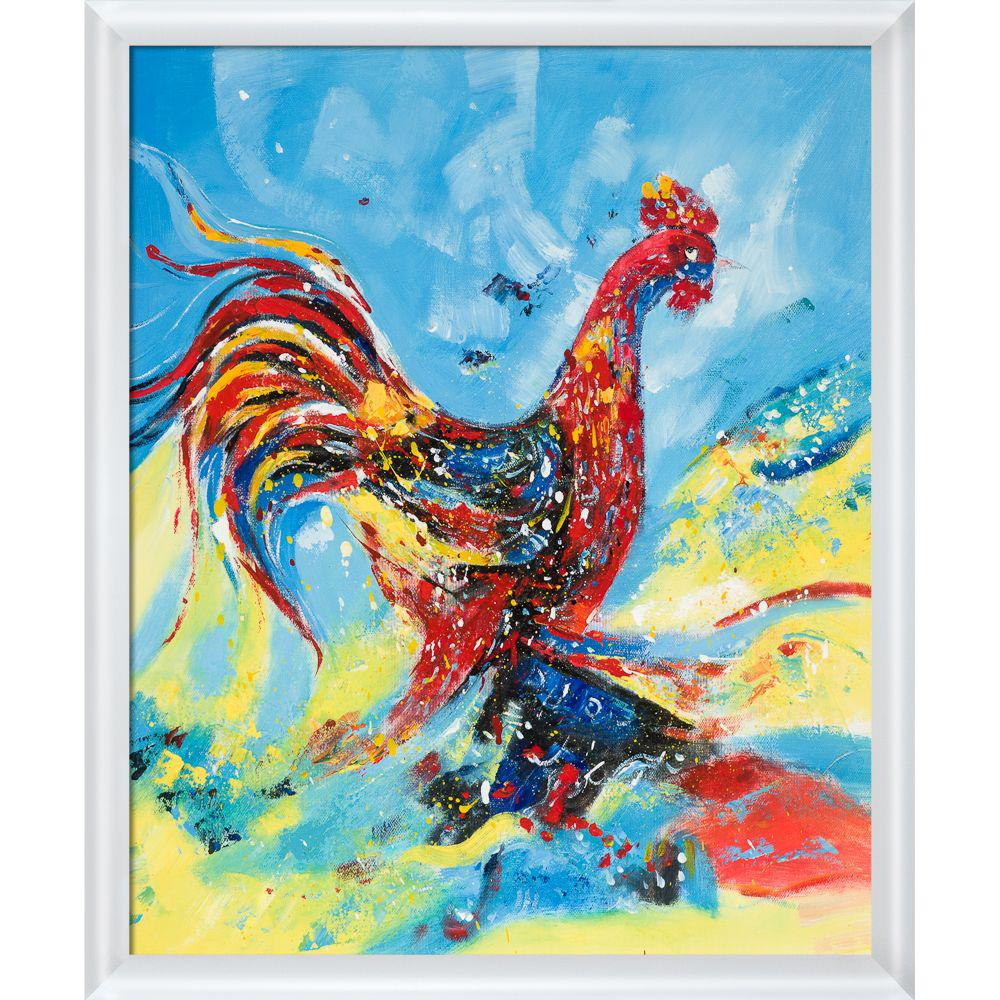 ArtistBe Good Morning Reproduction with Moderne Blanc FrameCanvas Print, Multi-color was $745.5 now $362.65 (51.0% off)