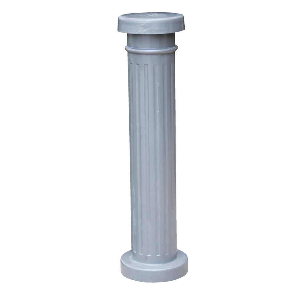 Vestil 12 in x 43 5 in decorative aluminum safety bollard bol alum the home depot - Decorative and safety bollards for your home ...