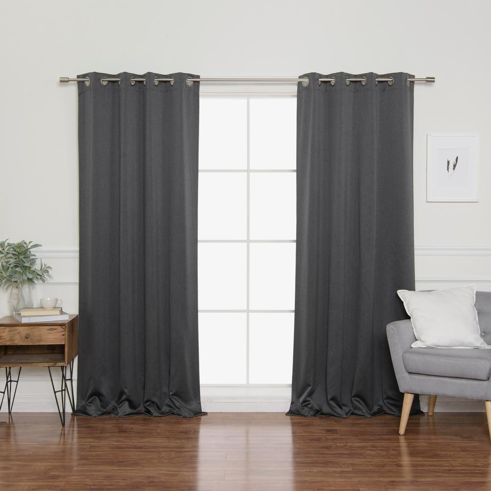 Best Home Fashion Heathered Linen Look 52 In. W X 108 In