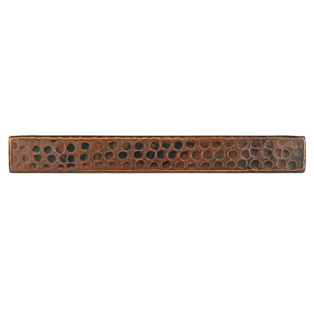 Premier Copper Products 1 In X 8 In Hammered Copper Decorative Wall Tile In Oil Rubbed Bronze