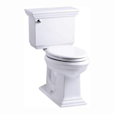 Memoirs Stately 2-Piece 1.28 GPF Single Flush Elongated Toilet with AquaPiston Flush Technology in White
