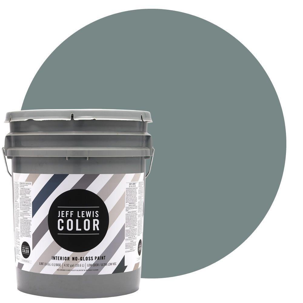 Jeff Lewis Color 5-gal. #JLC311 Salt Water No-Gloss Ultra-Low VOC Interior Paint