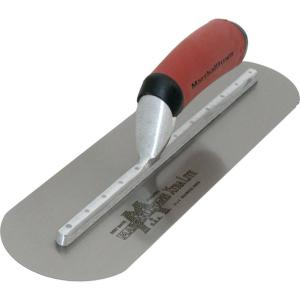 24 inch x 5 inch Finishing Trl-Fully Rounded Curved Durasoft Handle Trowel by