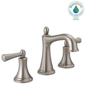 Delta Rila 8 inch Widespread 2-Handle Bathroom Faucet in SpotShield Brushed Nickel by Delta