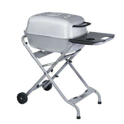 PK Grills Original PK-TX Cast Aluminum Charcoal Grill and Smoker in Silver