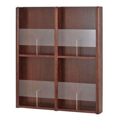 4 - 8 Pocket Oak/Acrylic Literature and Brochure Rack in Mahogany