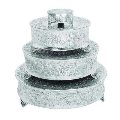 Silver Aluminum Cake Stand