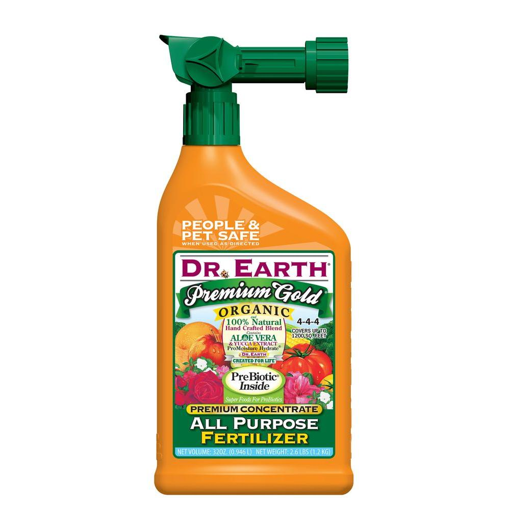 DR. EARTH 32 oz. Ready-to-Spray 1200 sq. ft. Gold All Purpose Liquid Fertilizer