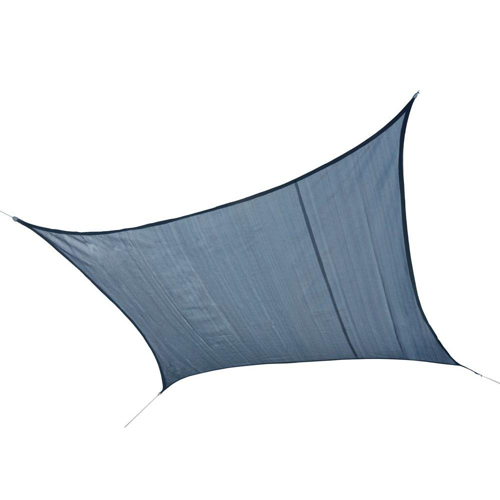 ShelterLogic 16 ft. W x 16 ft. L Square, Heavy-Weight Sun Shade Sail in Sea Blue (Poles Not Included) w/ Long-Life, Breathable Fabric