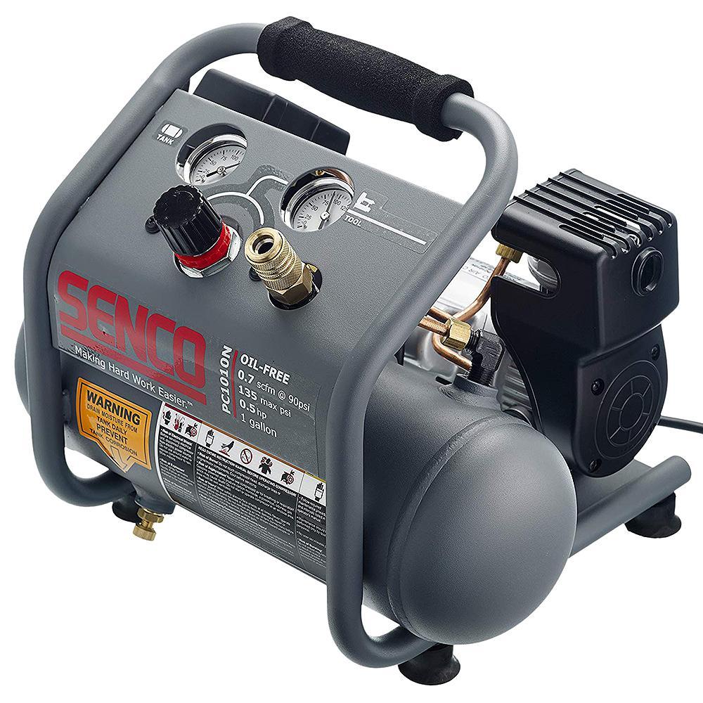 Grey Senco PC1010N 1//2 Hp Finish /& Trim Portable Hot Dog Compressor