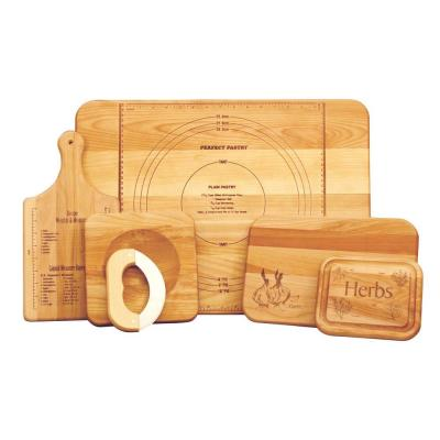 5-Piece Hardwood Reversible Cutting Board Set