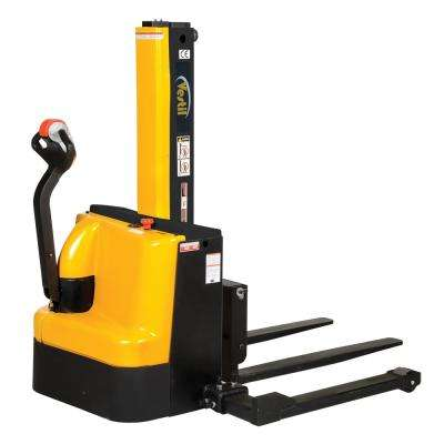 90 in. Narrow Mast Stacker with Power Lift, Power Drive, and Adjustable Forks