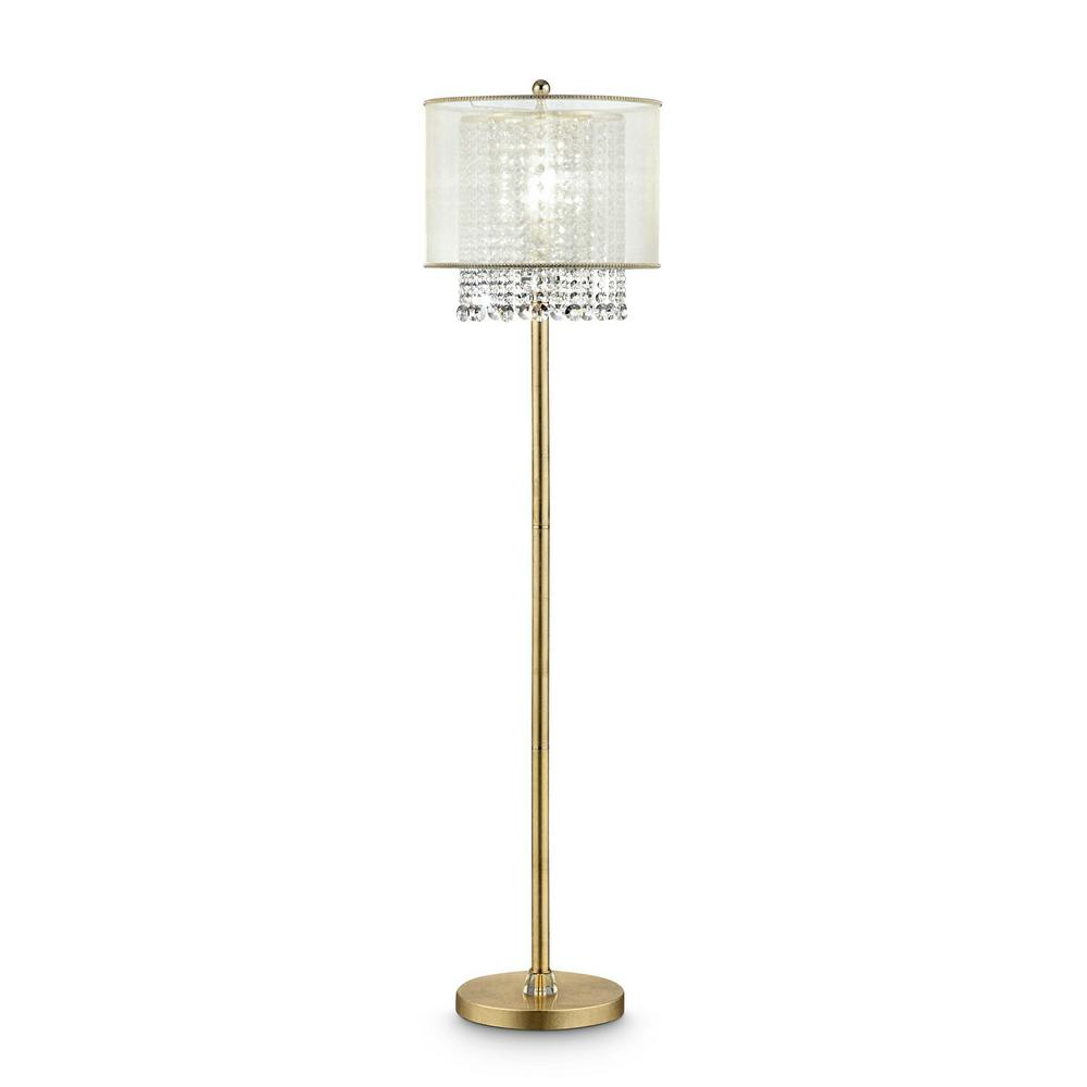 Ore International Bhavya 65 In Crystal Gold Floor Lamp K