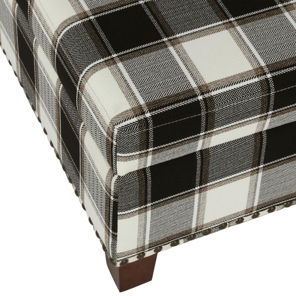 Incredible Dorel Living Kimball Black Plaid Pattern Storage Ottoman Machost Co Dining Chair Design Ideas Machostcouk
