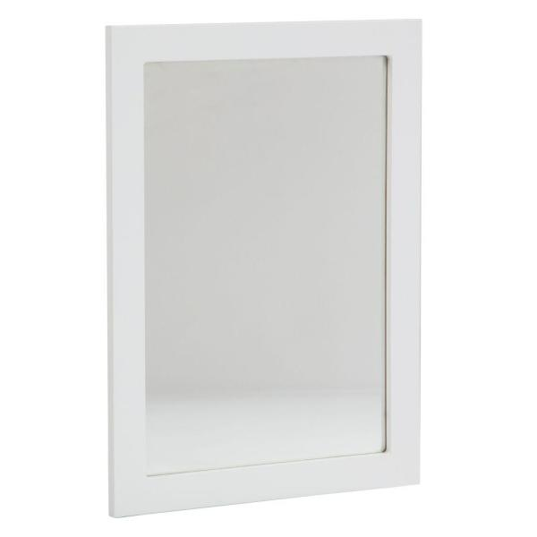Lancaster 20 in. L x 27 in. W Framed Wall Mirror in White