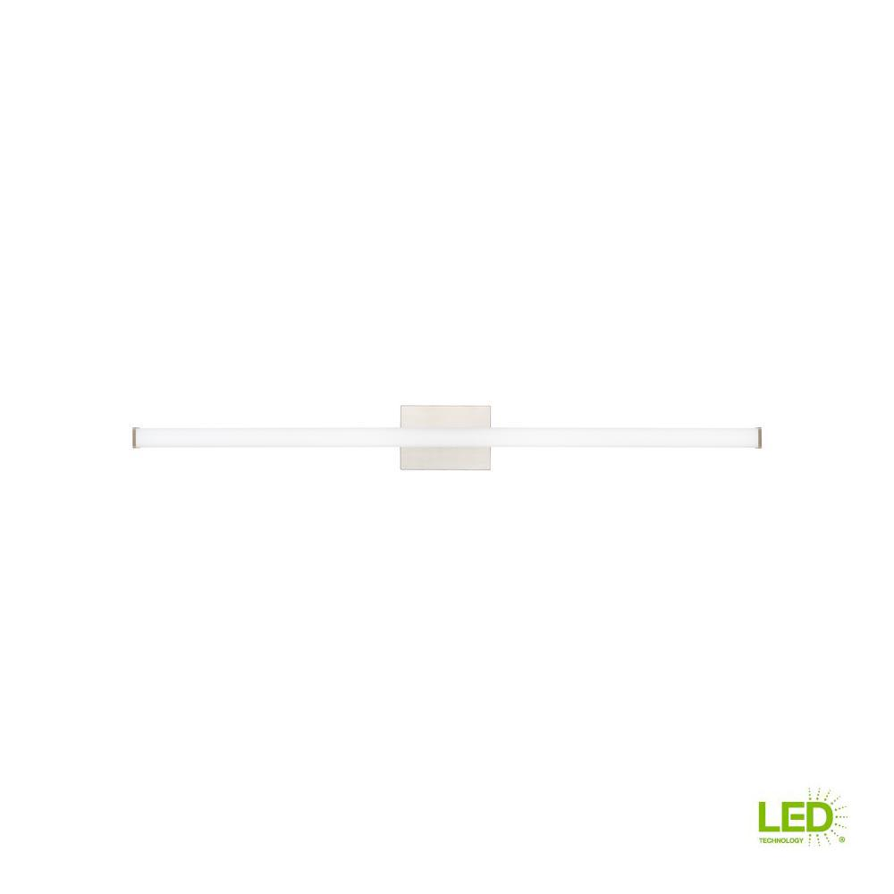 LBL Lighting Lufe Square 48 Bath 46.9-Watt Satin Nickel Integrated LED Bath Light