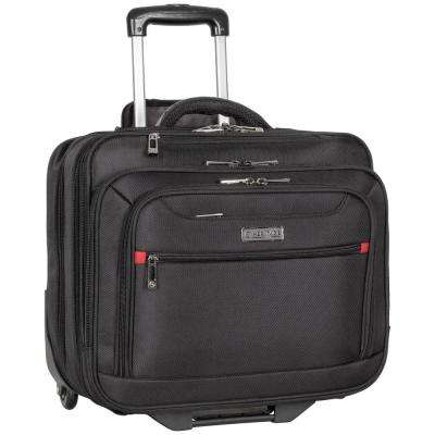 15.6 in. and 17 in. 1680D Polyester Triple Compartment Top Zip Wheeled Computer Portfolio/Business Overnighter