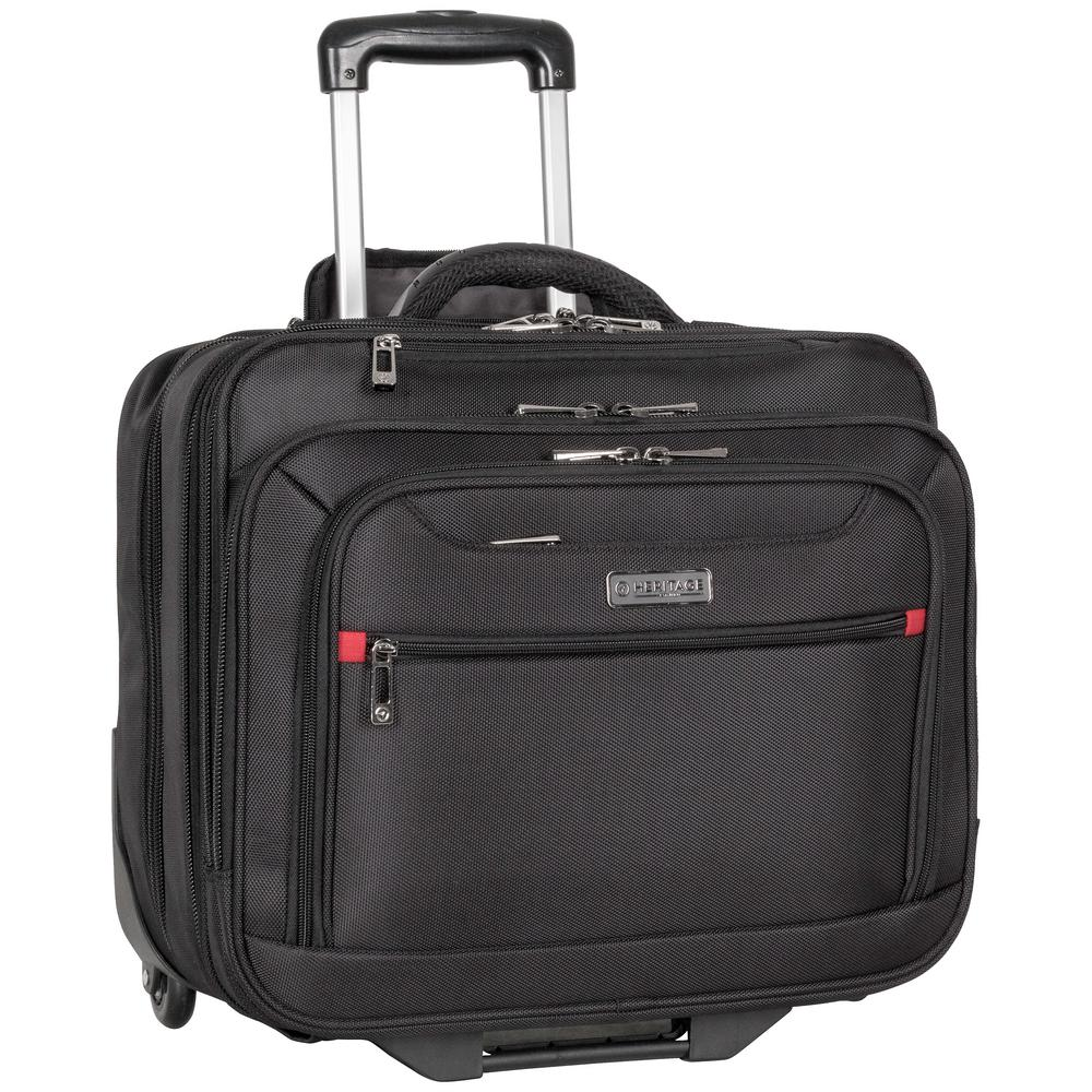 ec1c2a0b523e Heritage 15.6 in. and 17 in. 1680D Polyester Triple Compartment Top Zip  Wheeled Computer