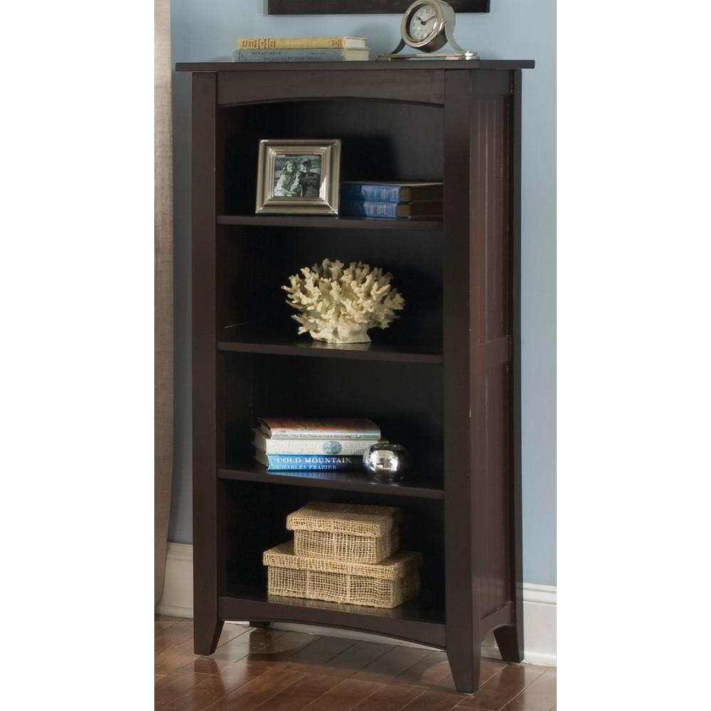 Shaker Cottage Chocolate Open Bookcase