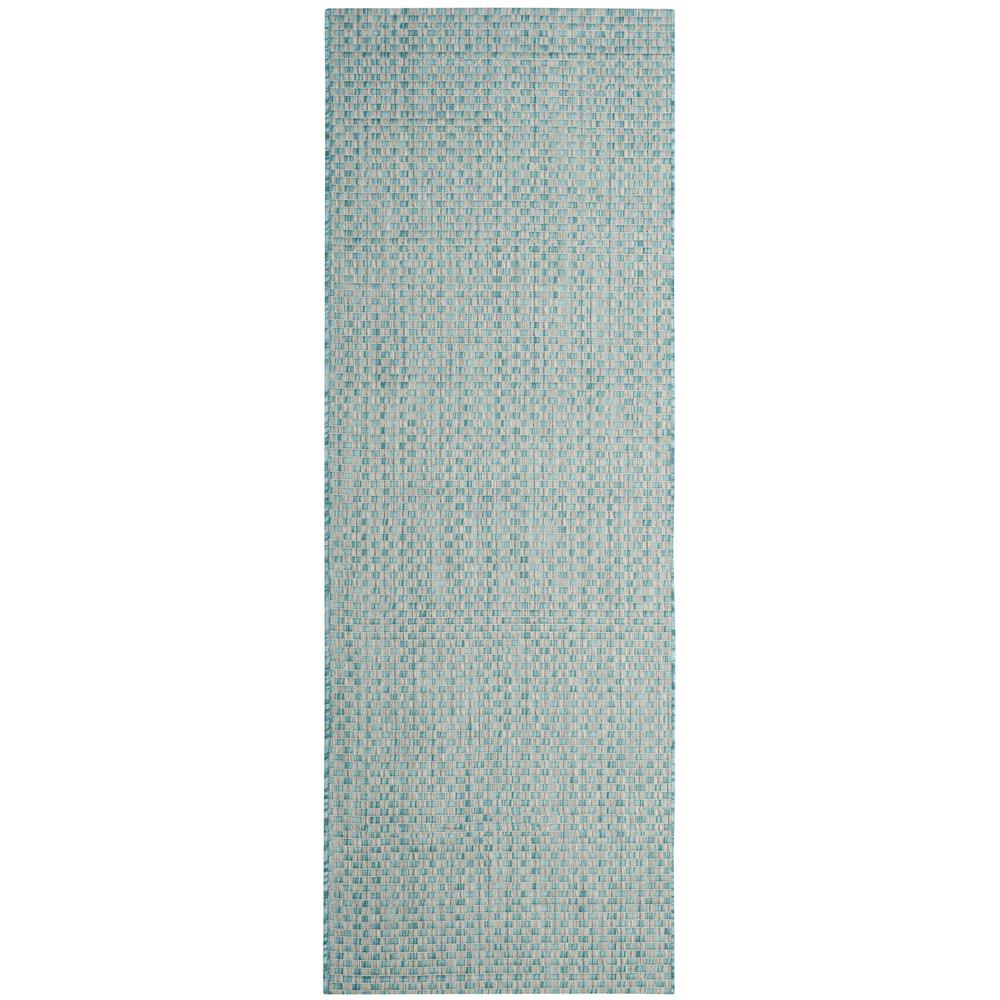 Safavieh Courtyard Light Blue/Light Gray 2 ft. 3 in. x 12 ft ...