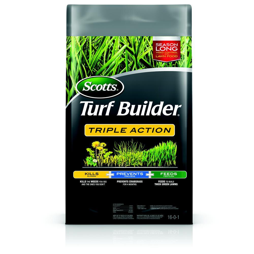 Scotts Turf Builder 20.07 lb. 4,000 sq. ft. Triple Action Lawn Fertilizer