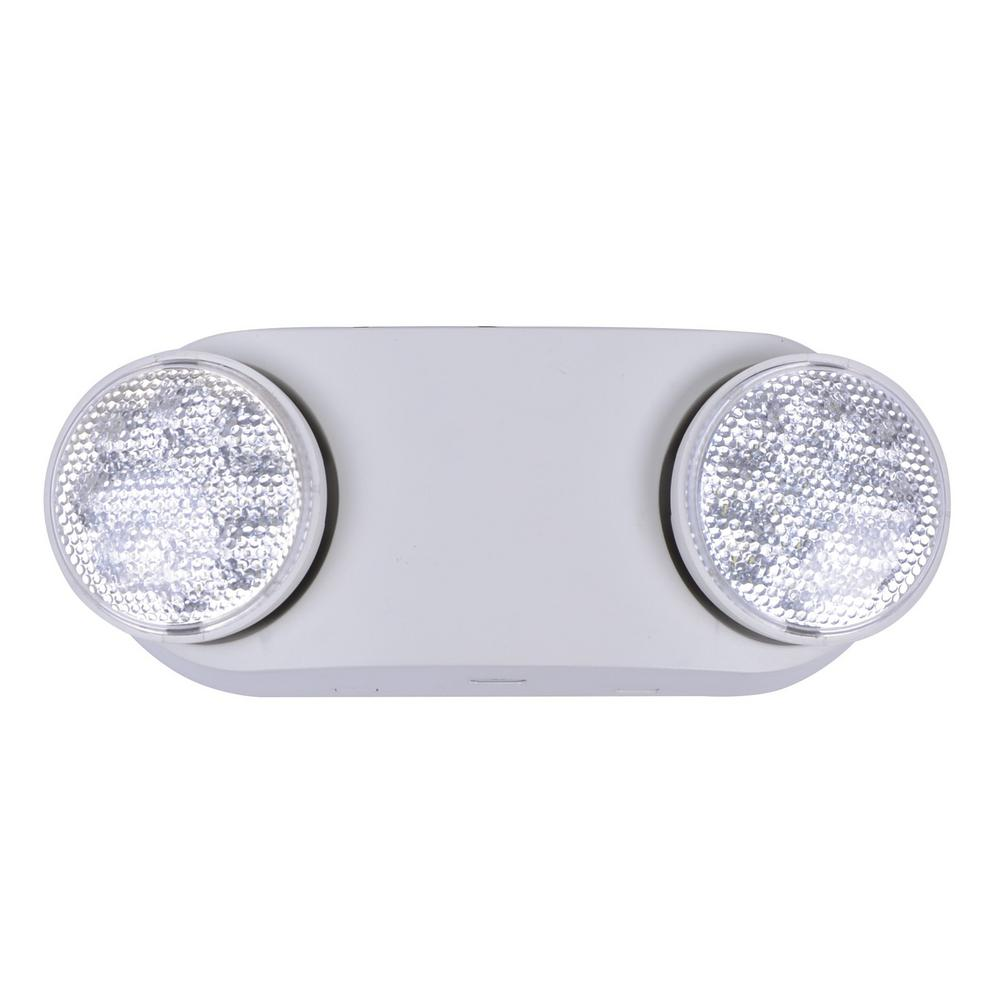 CommercialElectric Commercial Electric Oval 11-Watt with Ni-Cad 3.6-Volt Battery White Integrated LED Emergency Light