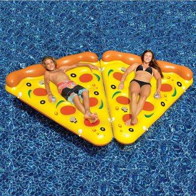 Inflatable Pizza Slice Pool Float (8-Pack)
