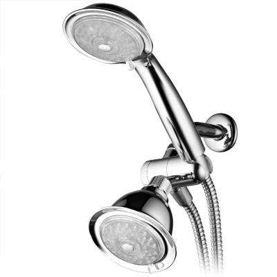 24-Spray LED Hand Shower and Shower Head Combo Kit in Chrome