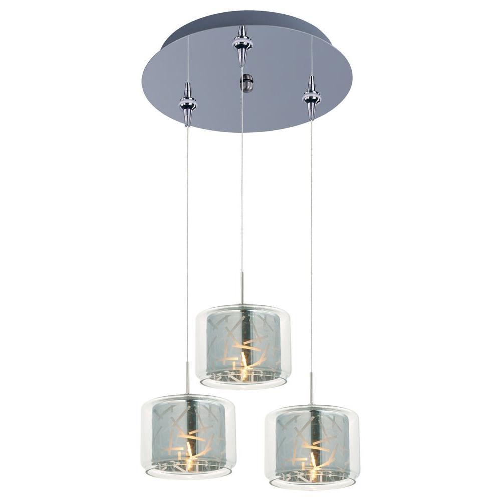 Filament Design Coit 3-Light Polished Chrome Xenon Ceiling Pendant