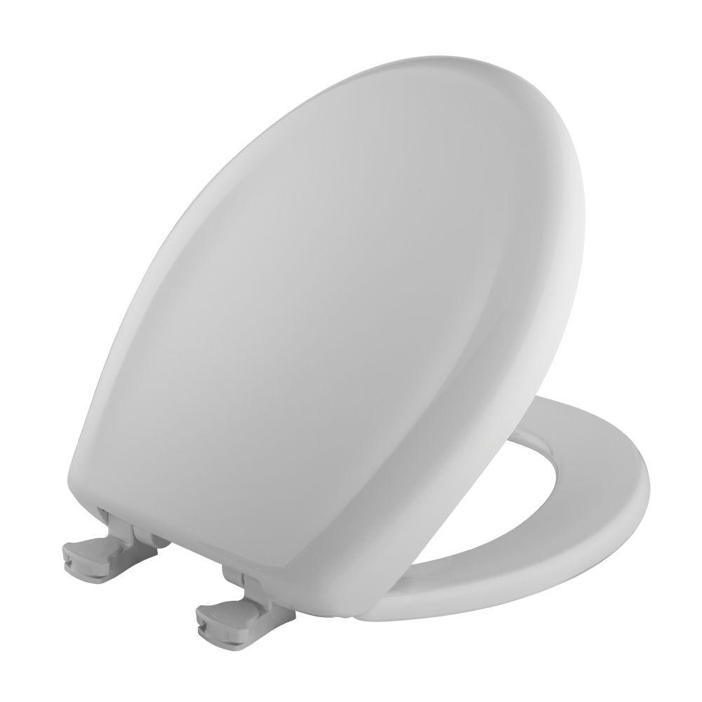 BEMIS STA-TITE Round Slow Closed Front Toilet Seat in White