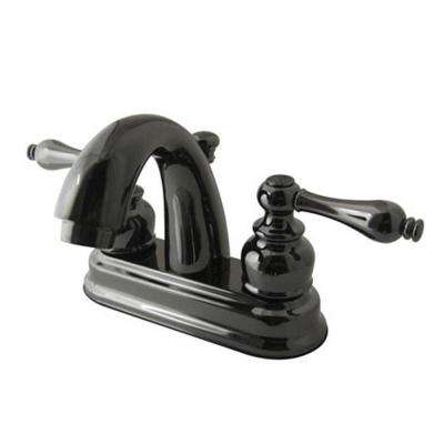 Restoration 4 in. Centerset 2-Handle Bathroom Faucet in Black Stainless Steel