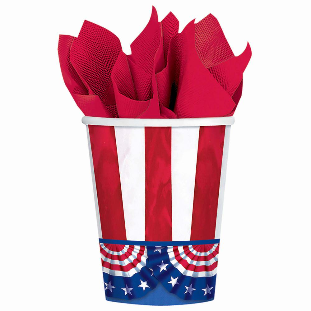 3.75 in. American Pride 9 Oz. Paper Cups (50-count, 2-Pack)